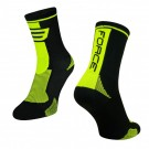 Sosete Force Long negru/fluo